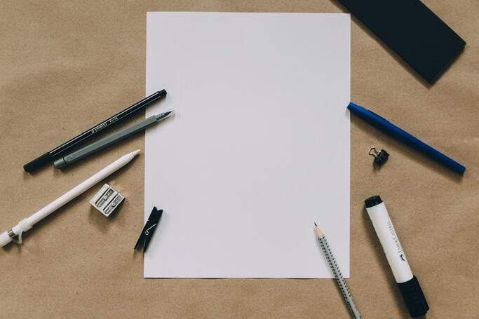 A blank sheet of paper.