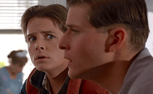 Michael J. Fox in the lead role of Back to the Future.